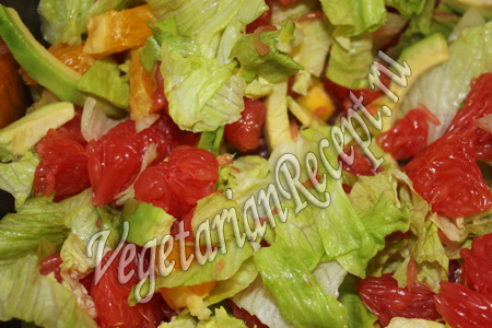 Салат из грейпфрутов и гребешков, пошаговый рецепт с фото