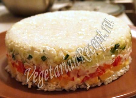 рисовый слоеный салат