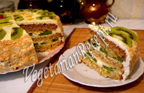 торт с киви рецепт