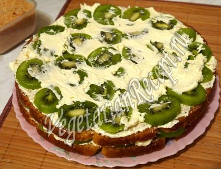 торт с киви приготовление