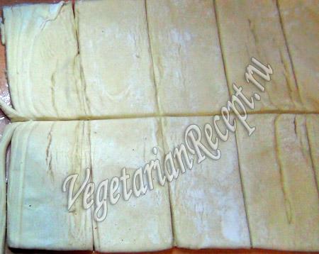слоеное тесто для лукошка