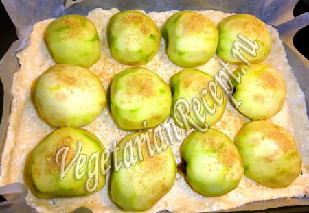 творожный пирог с яблоками приготовление