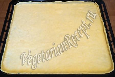 вегетарианская пицца - тесто