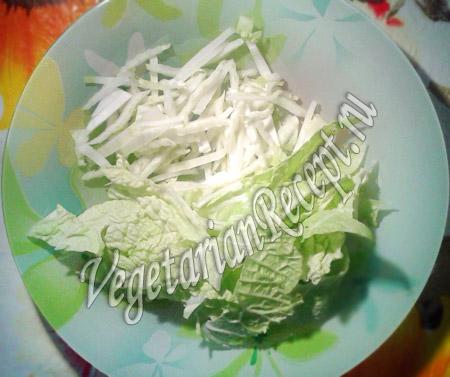 капуста для вегетарианской шаурмы