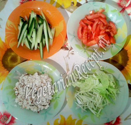 овощи для вегетарианской шаурмы