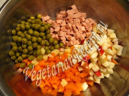 вегетарианский салат - шаг 8