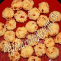 сладкие вишнево кокосовые шарики