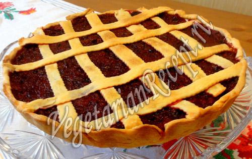 бабушкин пирог с клюквой