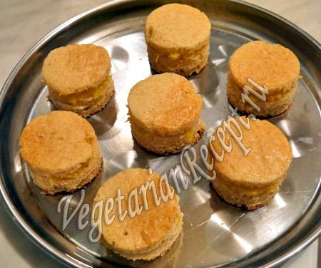 бисквитное пирожное фото рецепт