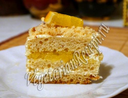 бисквитное пирожное рецепт с фото