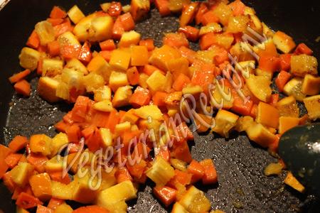обжаренные морковь и апельсин