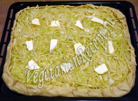 приготовление капустного пирога