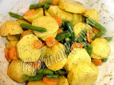 приготовление картофеля запеченного в духовке с овощами