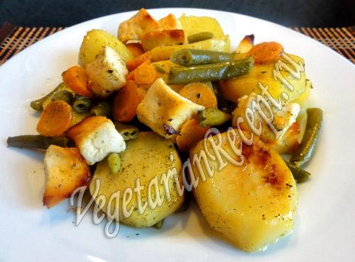 картофель запеченный в духовке с овощами рецепт