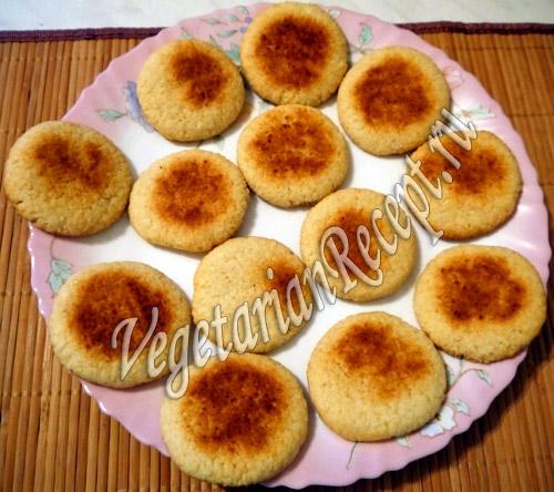 кокосовое печенье с сыром рецепт
