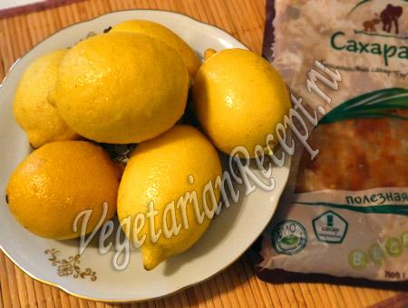 тростниковый сахар гур и лимоны
