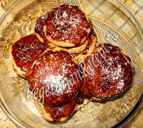 овсяное печенье с орехами в глазури