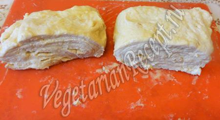 слоеное тесто на кефире для пирога с клюквой