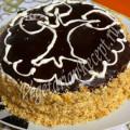 торт из карамельного бисквита и крема с черносливом