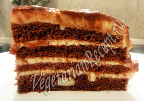 торт с кремом из манки рецепт