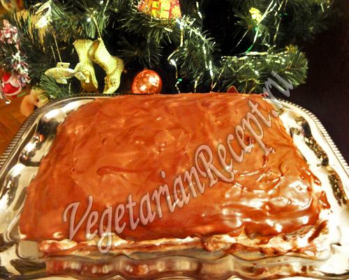 торт с кремом из манки