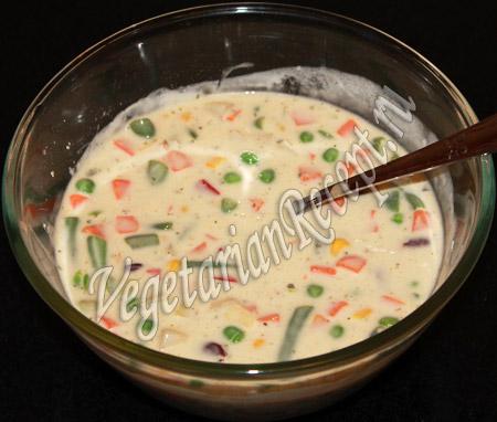 замороженные овощи в тесте