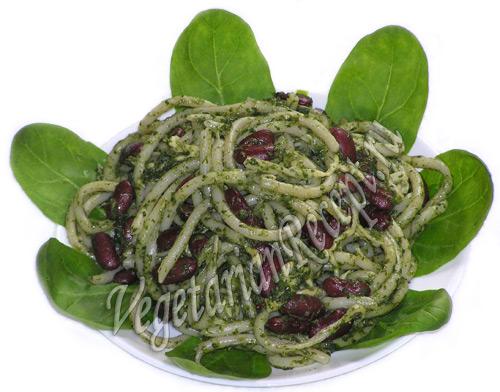 макароны со шпинатом рецепт