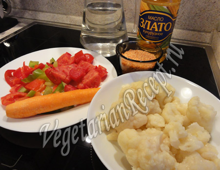 суп из красной чечевицы - продукты