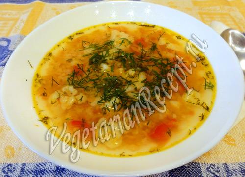 суп из красной чечевицы с цветной капустой