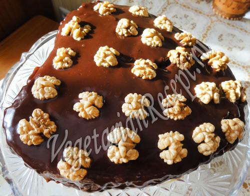 торт в виде сердца - рецепт с фото