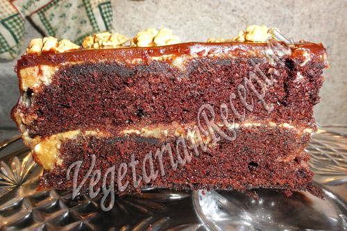 шоколадный торт в виде сердца