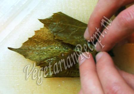 как приготовить долму из виноградных листьев