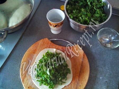 кутабы с зеленью рецепт с фото