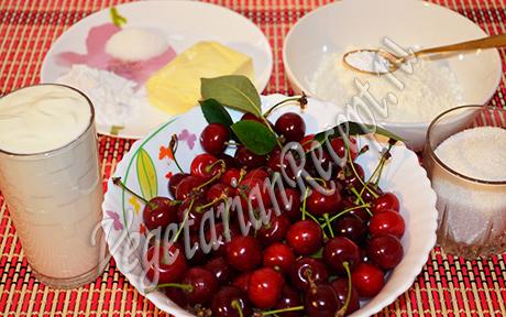 вишня и другие продукты для пирога