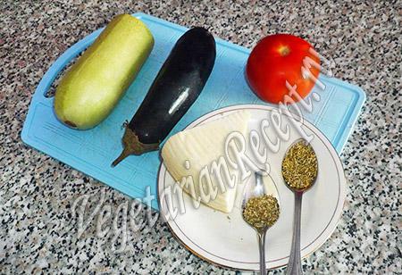овощи, сыр и специи