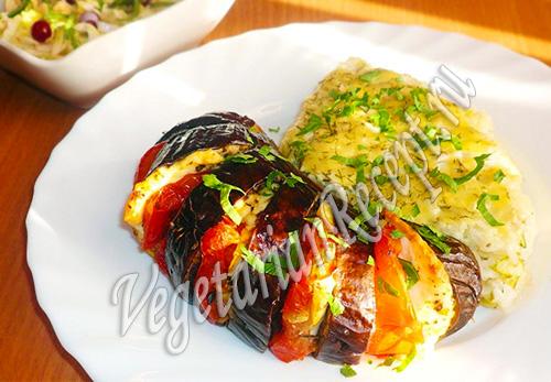 приготовленные овощи в духовке