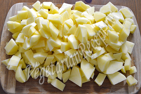 картофель - тушеный картофель с овощами