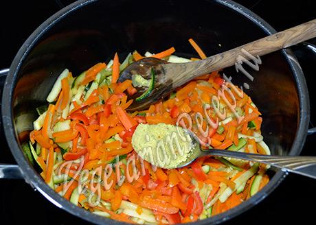 тушим овощи со специями - тушеный картофель с овощами