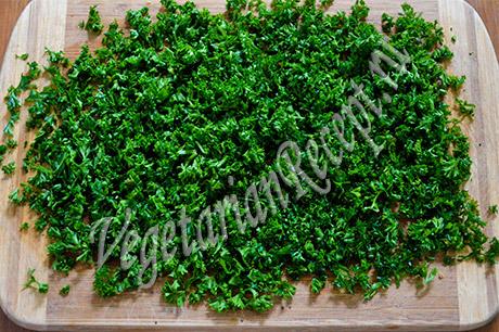 зелень - тушеный картофель с овощами