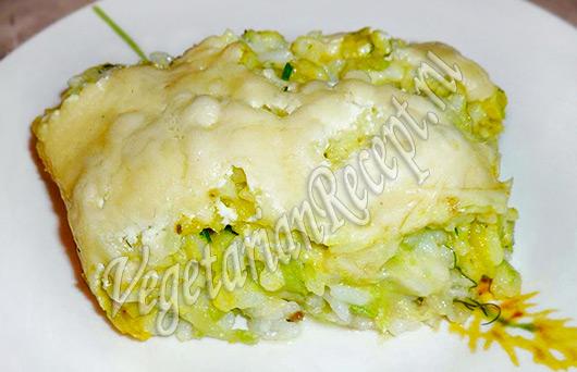 запеканка вегетарианская из кабачков
