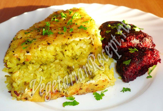 Запеканка из кабачков с рисом - рецепт с фото