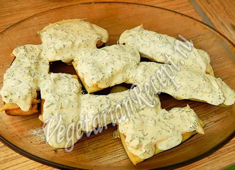 баклажаны с сыром и сметаной для запекания