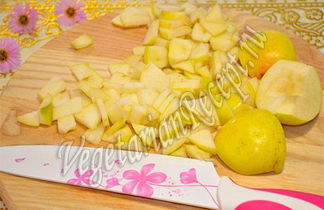 пирог с консервированными персиками простой рецепт