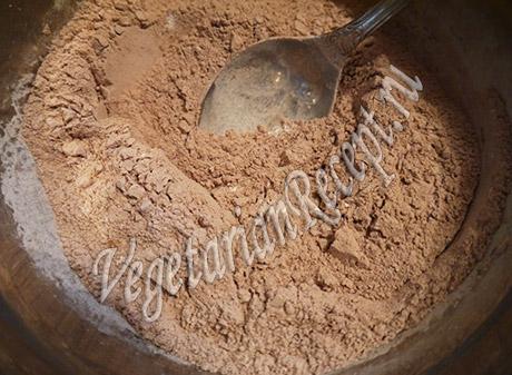 какао с сахарной пудрой