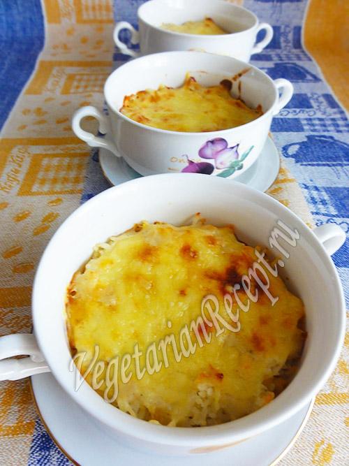 гратен из риса и кабачков