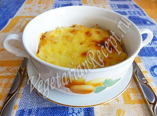 гратен с рисом и кабачками