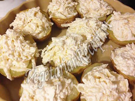 картофель с сырной начинкой