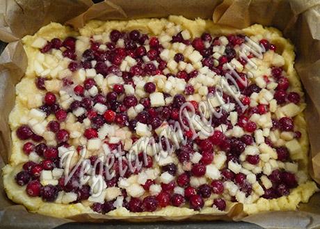 рецепт клюквенного пирога