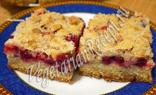 клюквенный пирог - рецепт с фото
