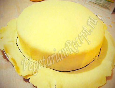 мастика на торте